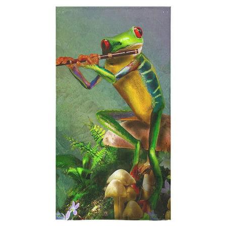 MKHERT Funny Cute tree frog Bath Towel Shower Towel Wash Cloth Face Towels 16x28