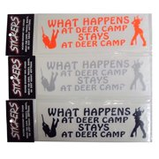 Graphic Designs WHAT HAPPENS AT DEER CAMP STAYS AT DEER Vinyl Decal Sticker, 169