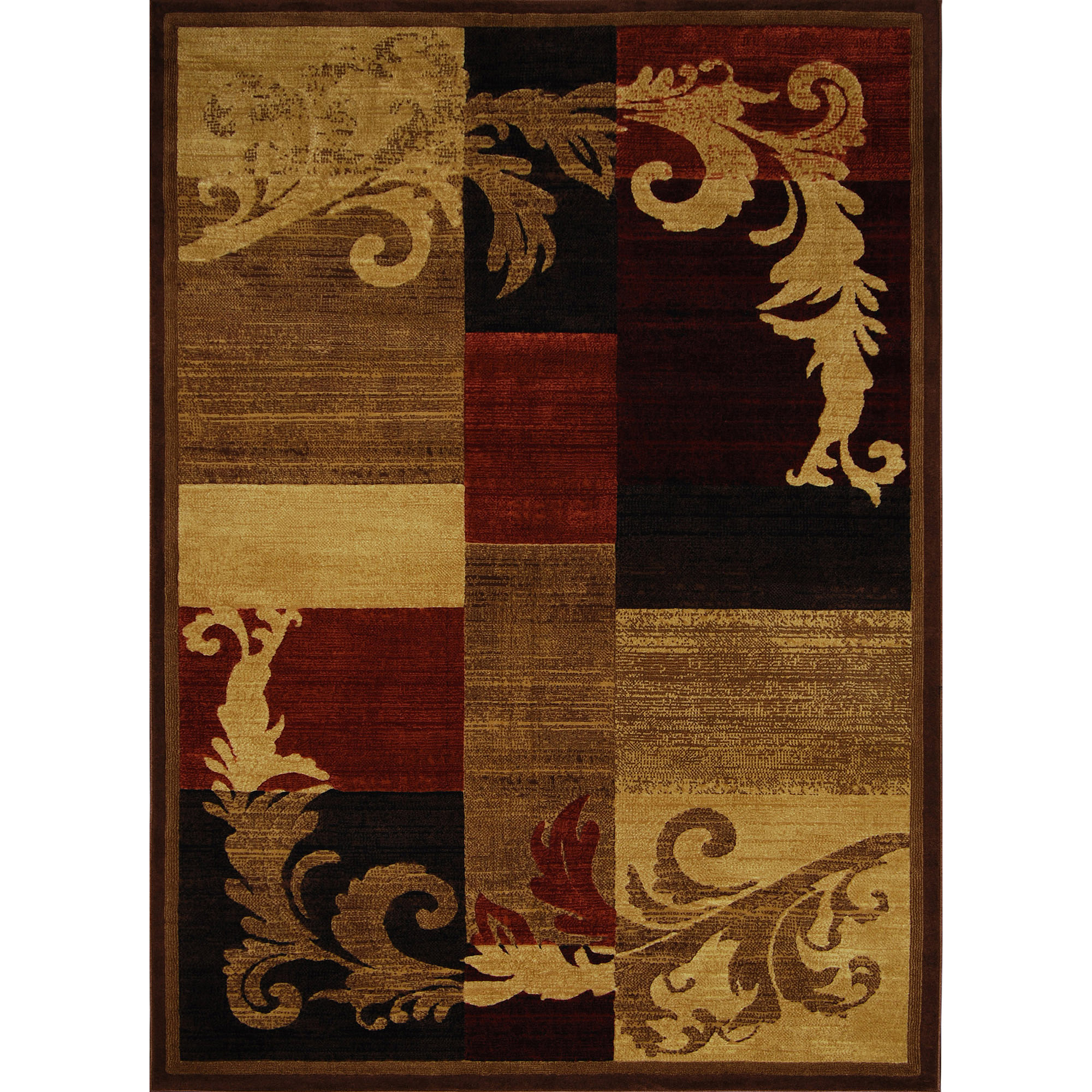 Home Dynamix Catalina Olefin Rug, Brown / Red