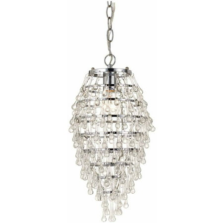 AF Lighting Crystal Teardrop 1-Light Chandelier,