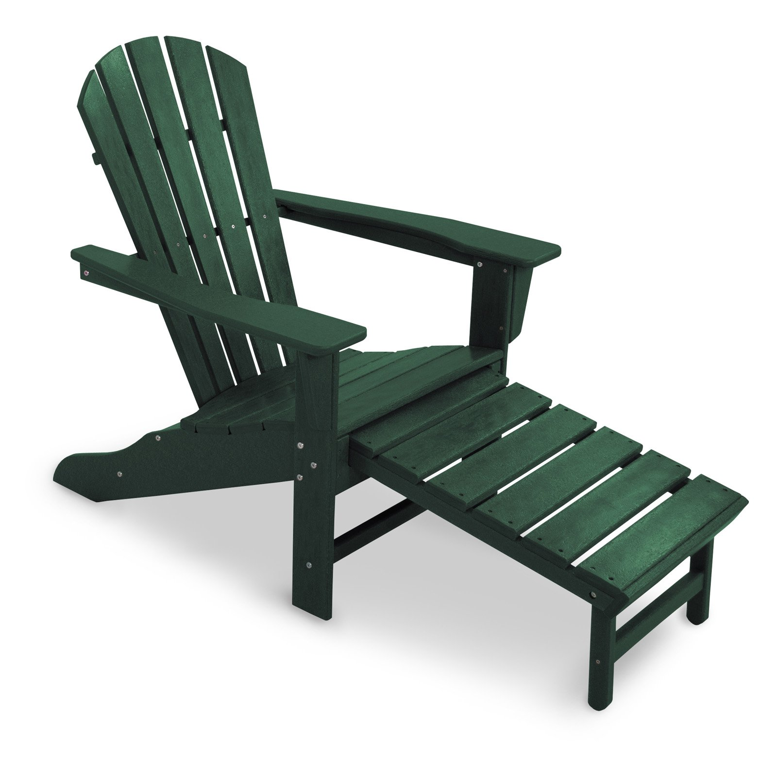 POLYWOODu0026reg; Recycled Plastic Big Daddy Adirondack Chair With Pull Out  Ottoman   Walmart.com