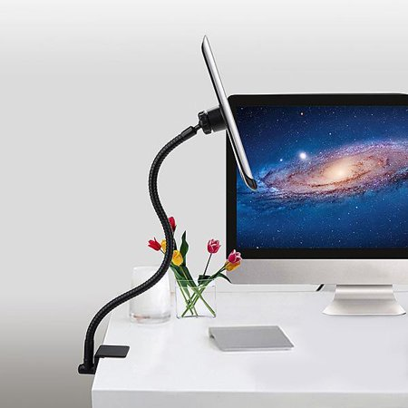 - Tablet Holder rwith Flexible Gooseneck Rotating Stand and Mounting Desk Clamp  for IPAD Mini, IPAD Air, IPAD 1,2,3,4