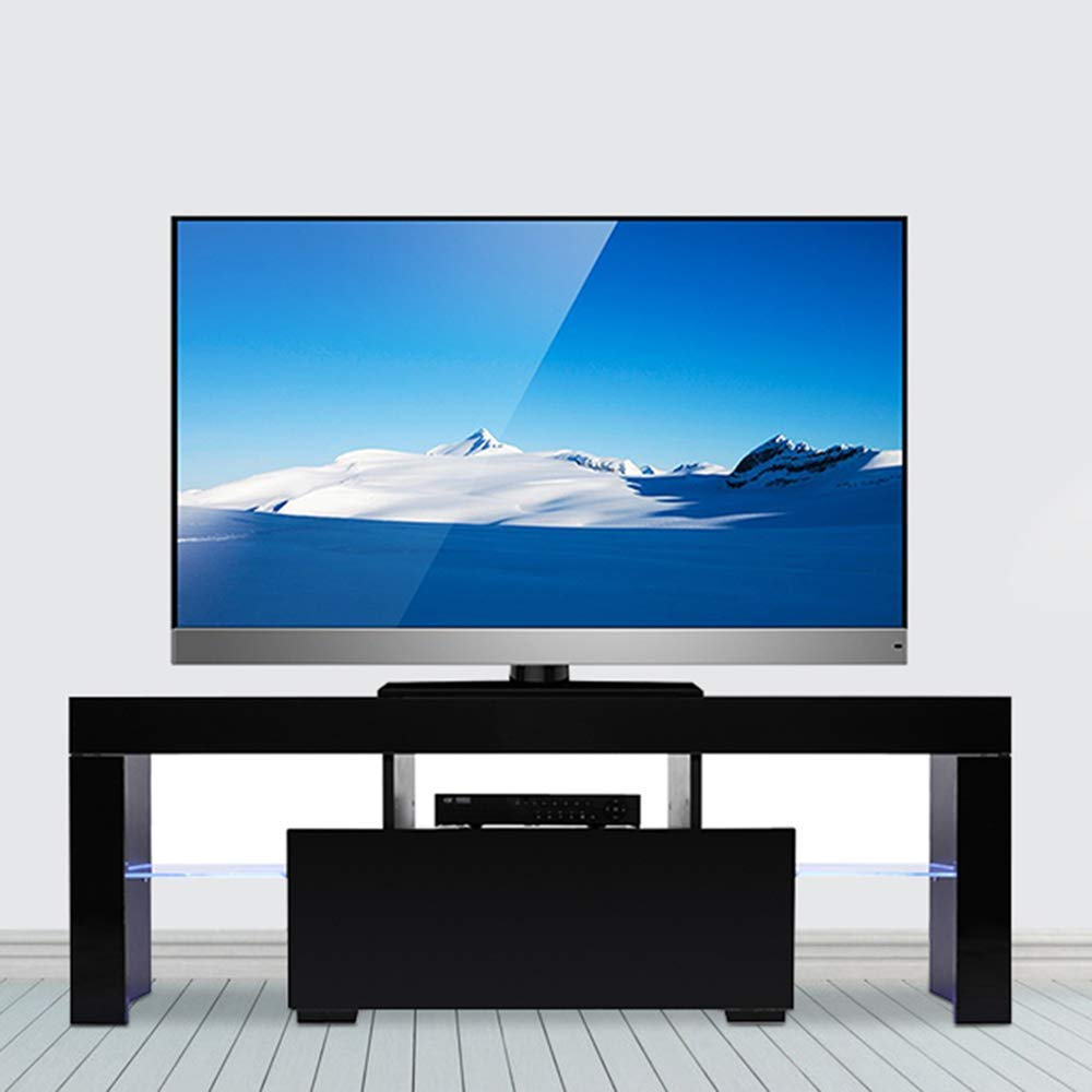 TV Stand Table Entertainment Center W// Bin Drawers Media Console Storage Shelve