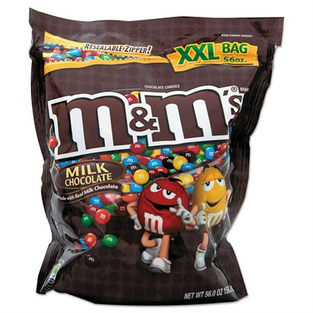 M&M's Chocolate Candy, Peanut, 56 - Individual M&m Colors