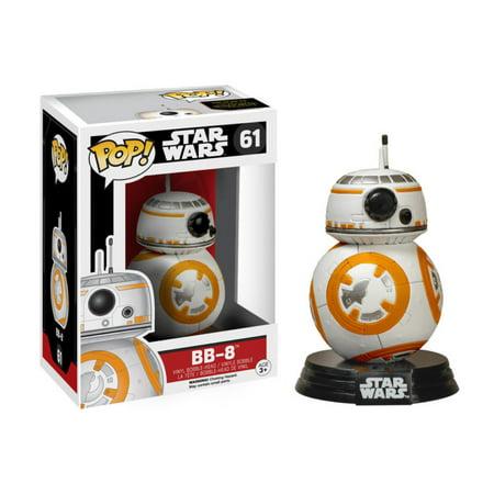 New Mib Mint (Star Wars The Force Awakens BB-8 Droid Vinyl POP! Figure Toy #61 FUNKO NEW)