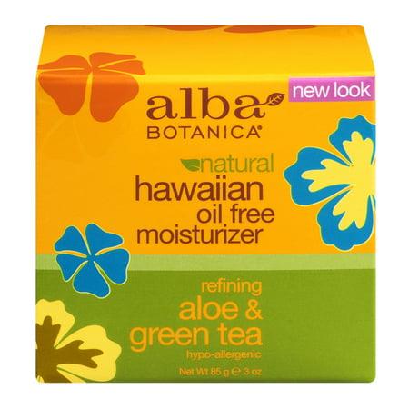 Alba Botanica Refining Aloe   Green Tea Hawaiian Oil Free Moisturizer  3 Oz