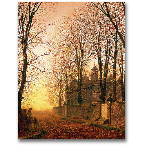 "Trademark Fine Art ""In the Golden Olden Time"" Canvas Wall Art by John Atkinson Grimshaw"