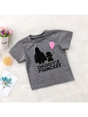 Newborn Star Wars Baby Girls T-shirt Tops Casual Cotton Graphic T shirt Tee