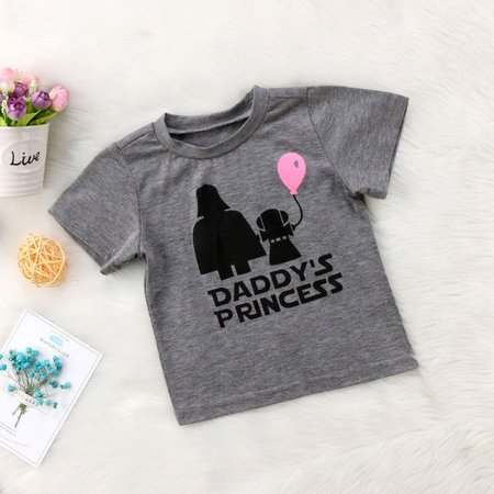 Newborn Star Wars Baby Girls T-shirt Tops Casual Cotton Graphic T shirt Tee](Star Wars Babys)