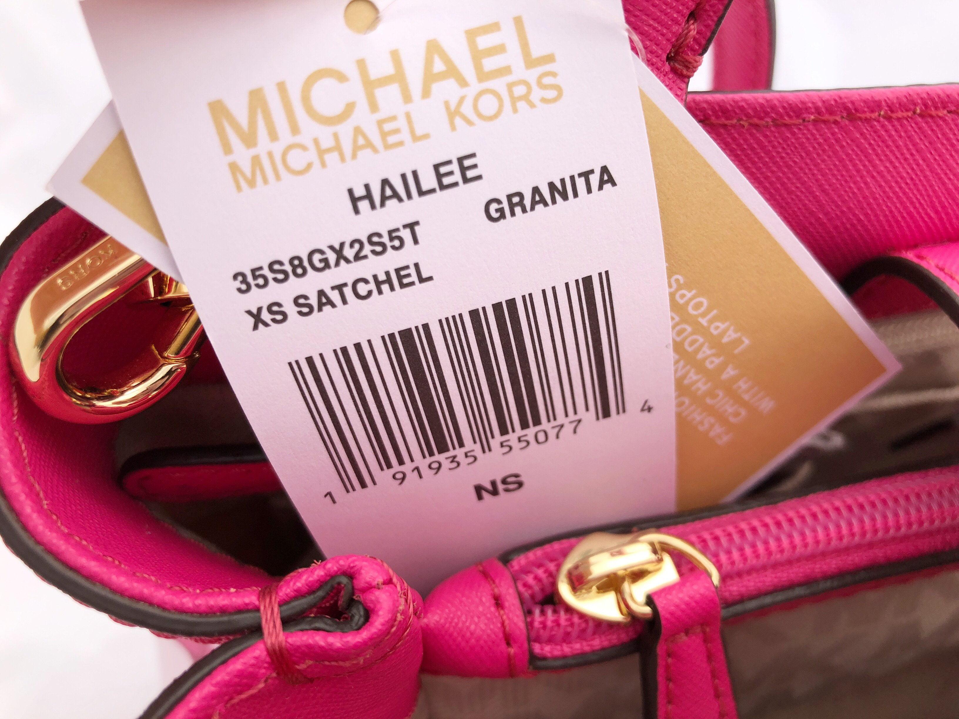 c29fb56adbbc Michael Kors - Michael Kors Hailee XS Satchel Small Crossbody Granita Pink  White Floral - Walmart.com