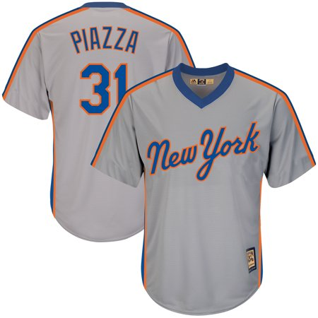 Mike Piazza New York Mets Majestic Big & Tall Cooperstown Collection Cool Base Replica Player Jersey -