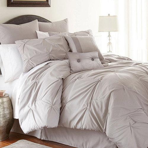 Ella 8-piece Embellished Comforter Set Queen Platinum