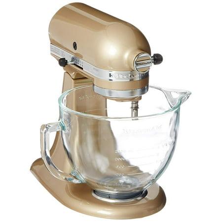 - KitchenAid 5-Quart Stand Mixer Glass Bowl Champagne Gold