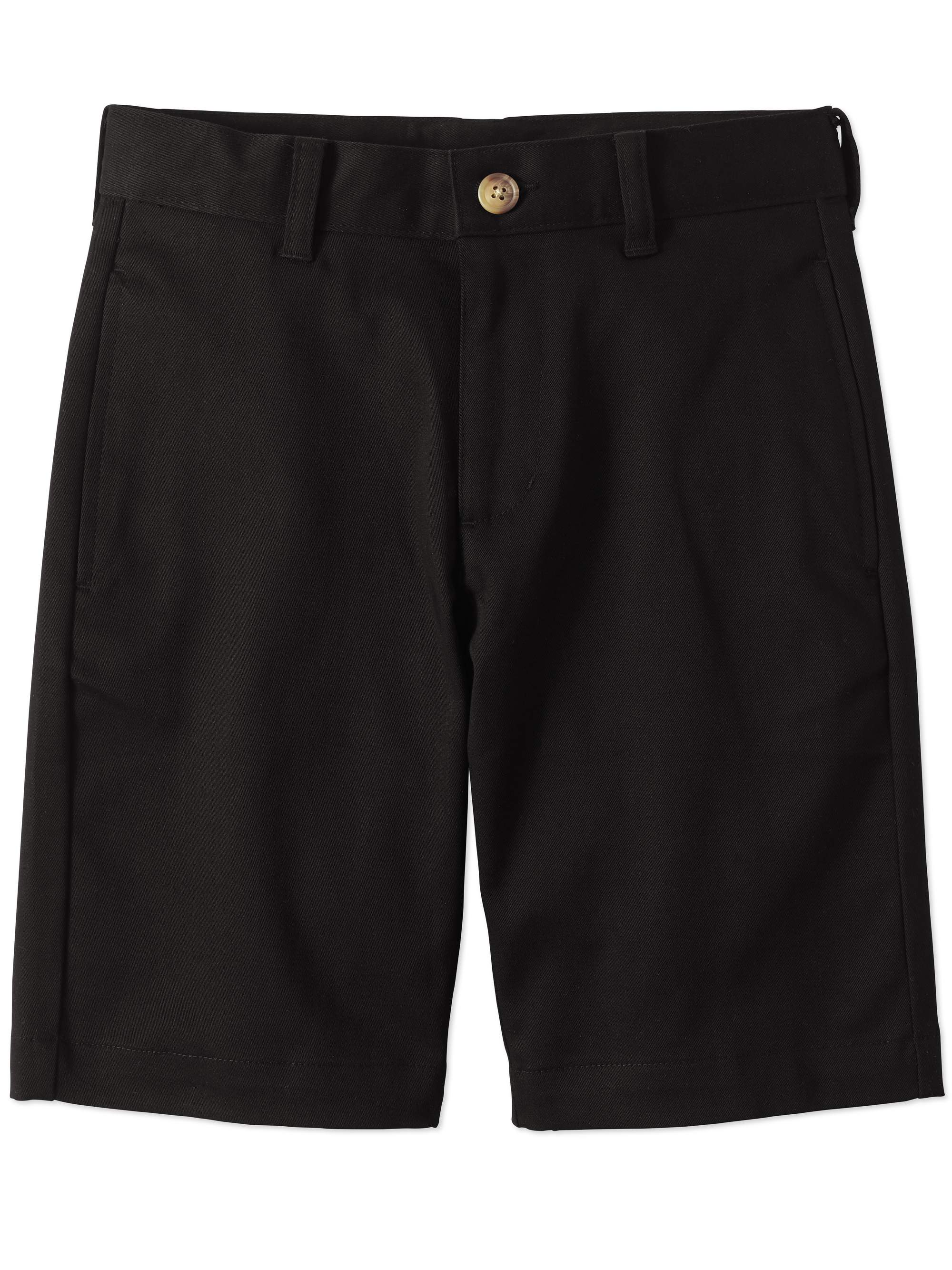 Boys Slim School Uniform Super Soft Flat Front Shorts