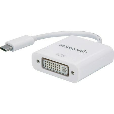Manhattan SuperSpeed+ USB-C to DVI Converter - 3.15