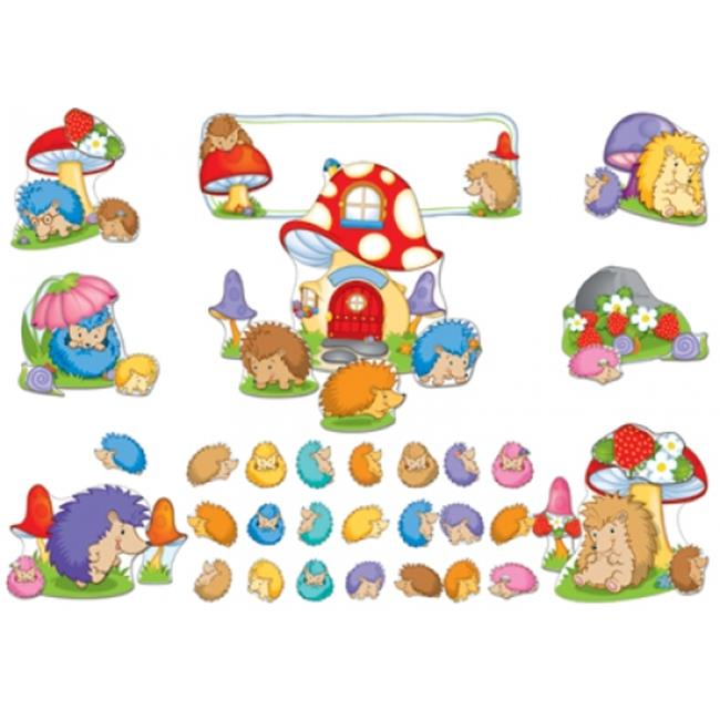 Carson Dellosa CD-110281 Happy Hedgehogs Bulletin Board Set