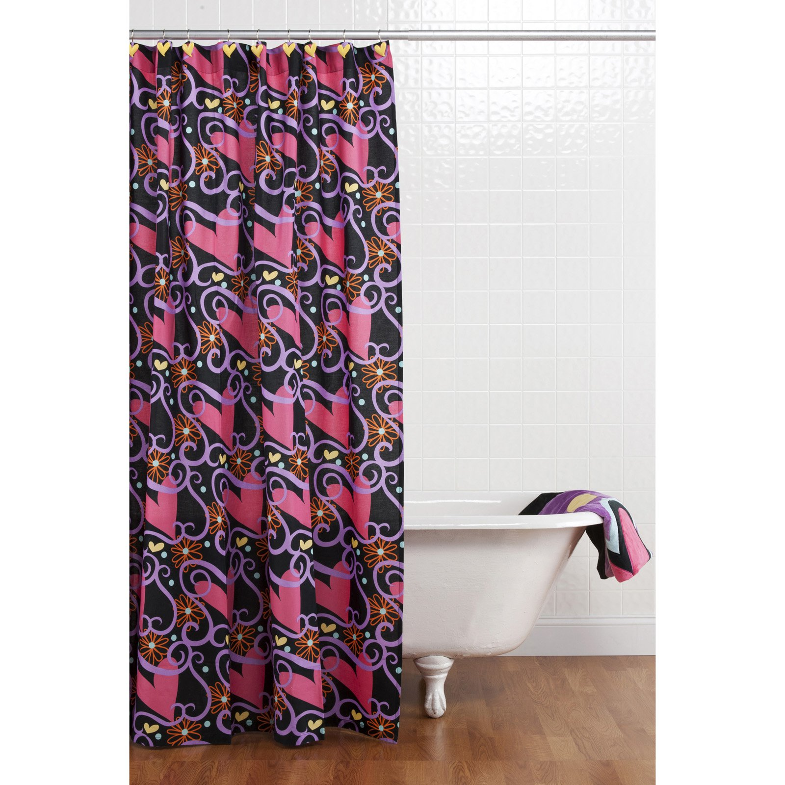 Sassy Shaylee Shower Curtain with Hooks