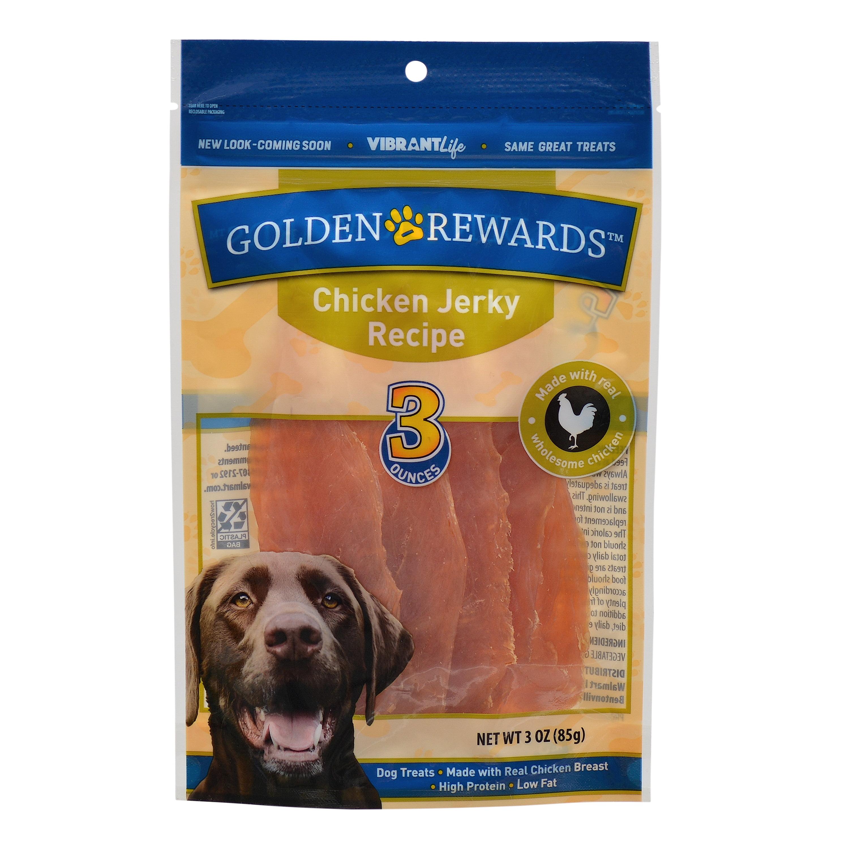 Golden Rewards Chicken Jerky Dog Treats, 3 oz.
