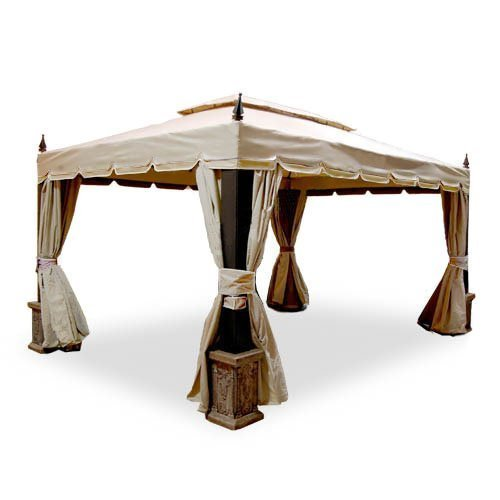 Garden Winds Replacement Canopy Top And Side Mosquito Setting For Expo Cabin Style 10 X 14 Gazebo Riplock 350