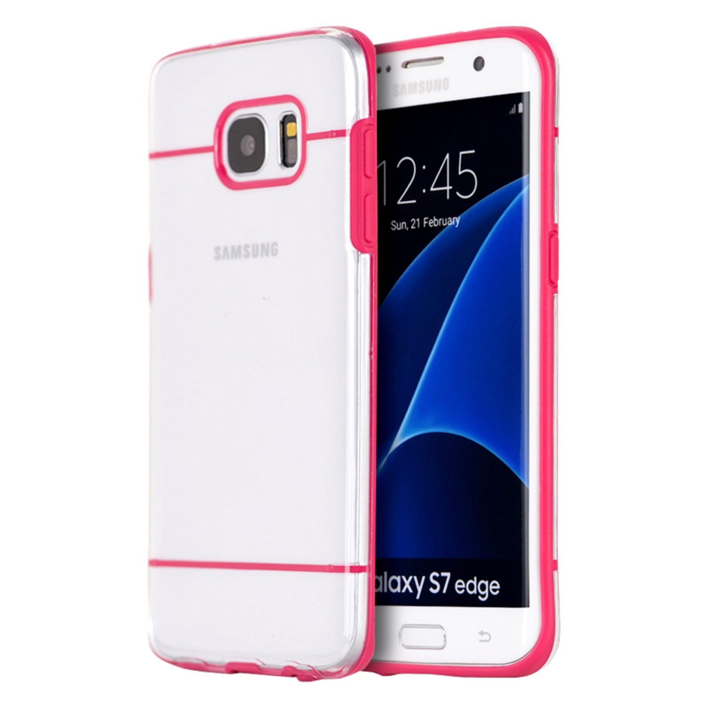 Samsung Galaxy S7 Edge Case, by Insten Fusion Candy Skin Hybrid Dual Layer Hard Plastic/TPU Cover Case for Samsung Galaxy S7 Edge