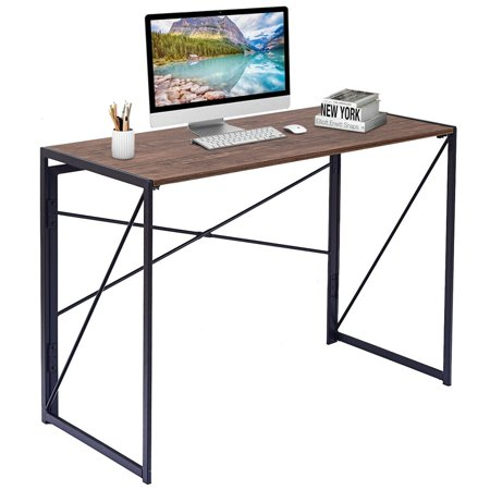 Folding Writing Computer Desk, X-Shape, Study Laptop Table, Multi-function Desk, Home Office