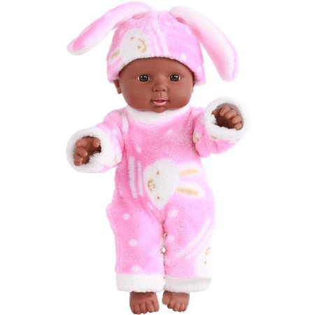 Baby's Bathing Silicone Artificial Realistic Reborn Black Girls Baby Doll Kids Early Education Gift Toys