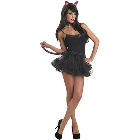 Pink Punk Kitty Set Adult Halloween Accessory (Post Punk Kitchen Halloween)