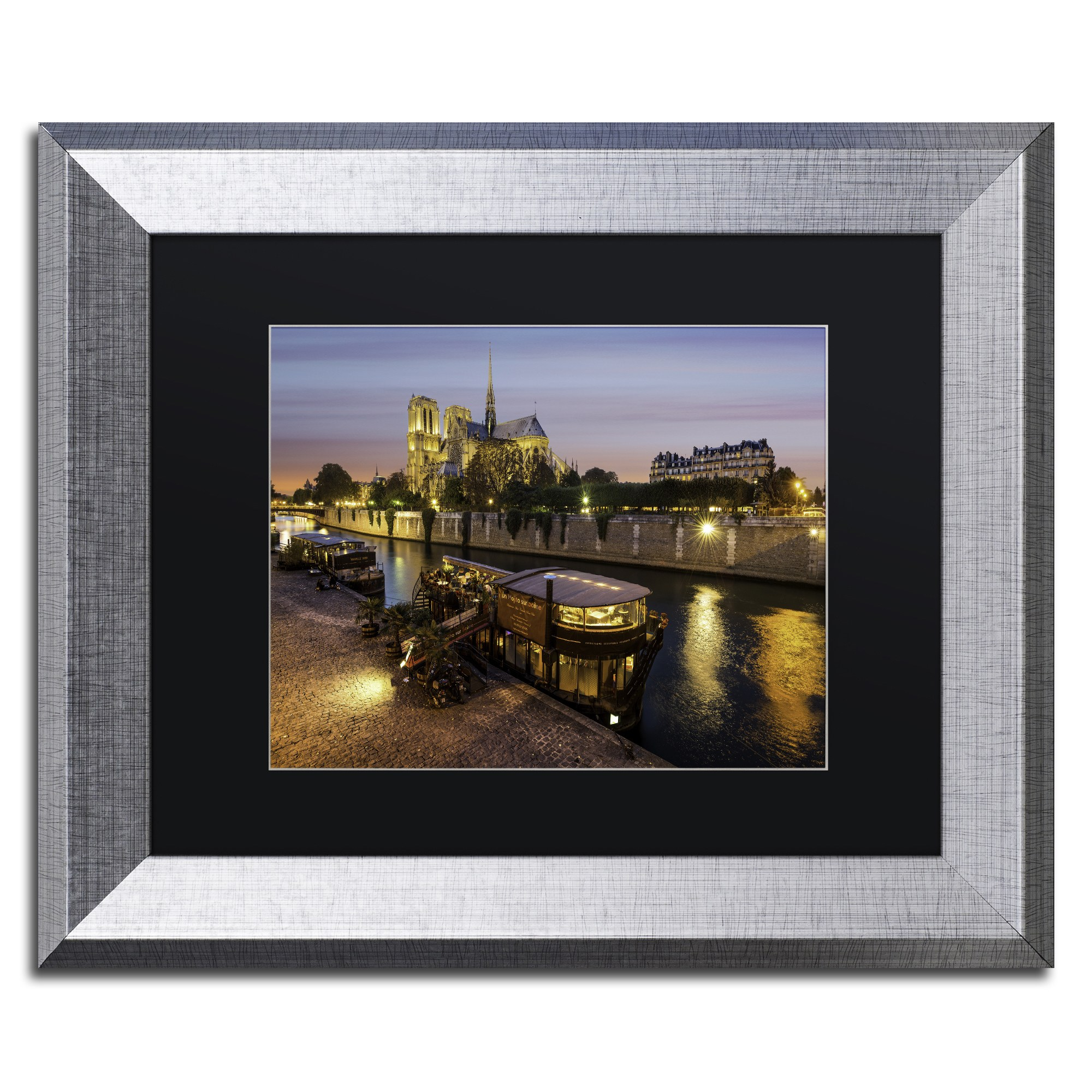 Trademark Fine Art Notre Dame De Paris In Colors Canvas Art By Mathieu Rivrin Black Matte Silver Frame Walmart Com Walmart Com