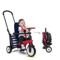smarTrike 5-in-1 Toddlers Folding Tricycle For 10-36 months Baby, Smart Trike smarTfold 300 - Navy