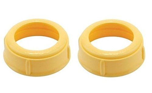 4 Collars For Slow or Medium Flow Wide Base Medela Bottle Nipple Collars Rings New