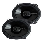 "2) New Rockford Fosgate P1683 6x8"" 130 Watt 3 Way Car Coaxial Speakers Audio"