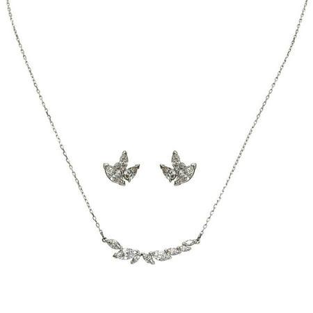 00d359a01 Swarovski - Swarovski Louison Necklace and Earrings Set - Walmart.com