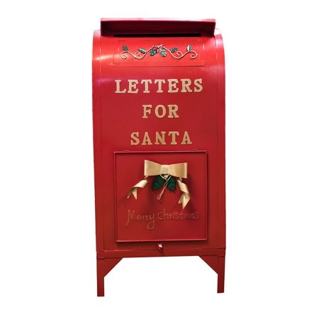 Framed Art For Your Wall Holiday Mail Red Santa Mailbox Mailbox Christmas 10x13 - Santa Mailbox