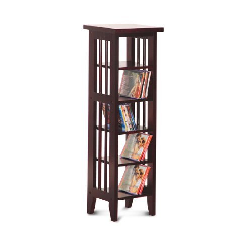 Cd-dvd Rack Espresso Finish, Cappuccino Finish Book Shelf   Case DVD   CD Rack By Asia Direct by