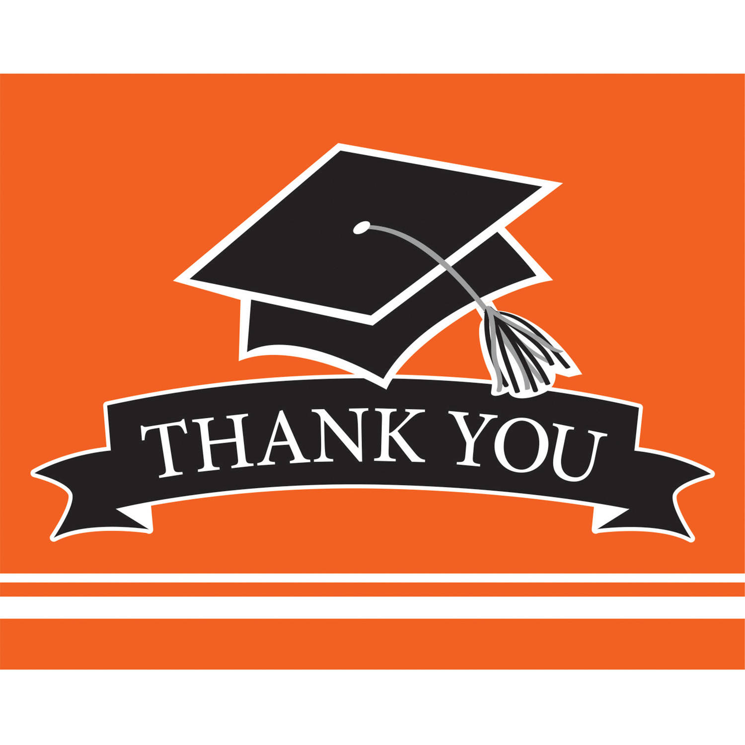 School Spirit Orange Thank You Cards, 25pk
