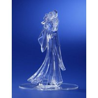 """Pack of 4 Icy Crystal Wedding Bride and Groom Cake Topper 8.25"""""""