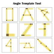 jeobest angleizer template tool multi angle ruler adjustable 4 sided measuring ruler mz walmartcom