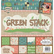 "Green Stack 2 Paper Stack 12""x12"" 36/she"