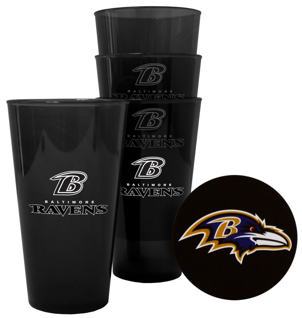 Baltimore Ravens Plastic Pint Glass Set
