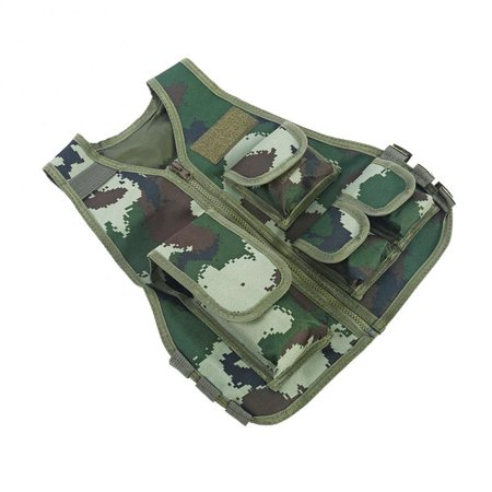HURRISE Hot Children Kids Camouflage Vest with Multi Pouches for Outdoor Combat Hunting (Hunting Rugby)