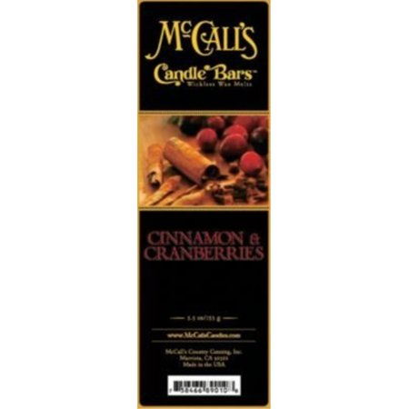 McCall's Country Candles Candle Bar 5.5 oz. - Cinnamon and (Cinnamon Cranberry)