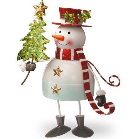 10   Metal Bobble Snowman