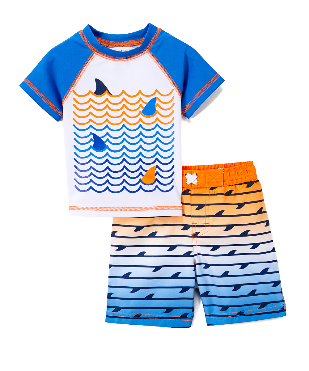 Shark Rashguard and Swim Trunk , 2-Piece Set (Toddler and Infant Boys)