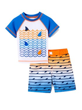 b970d73d88e7d Product Image Freestyle Revolution Shark Rashguard and Swim Trunk , 2-Piece  Swimsuit Set (Toddler Boys