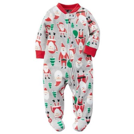 faf206d59551 Carter s - Carters Boys 0-9 Months Santa Claus Fleece Sleeper(Grey 3 ...