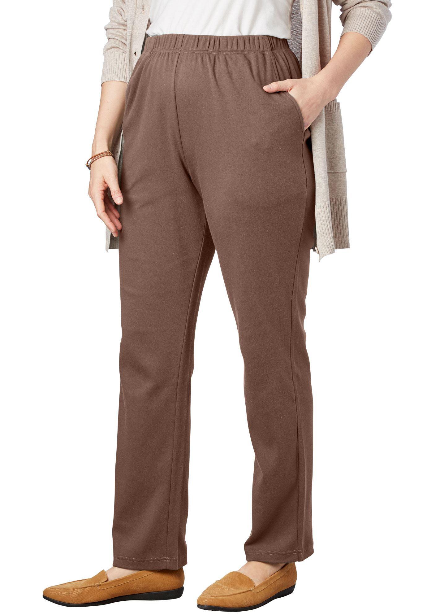 Woman Within Plus Size Petite 7-day Knit Straight Leg Pant