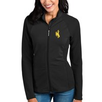 Wyoming Cowboys Antigua Women's Sonar Full-Zip Jacket - Black