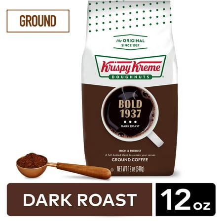 Krispy Kreme Doughnuts, Bold 1937, Dark Roast, Ground Coffee, Bagged 12