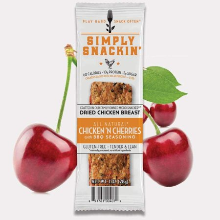 Simply Snackin' Chicken Protein Snack - Chicken' N Cherries with BBQ