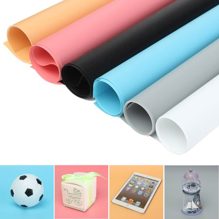 130x68cm Photography Background Backdrops Photo Studio Props PVC Matte Washable White/Blue/Orange/Pink/Grey/Black